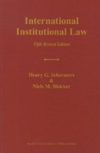 International Institutional Law,Unity Within Diversity, Fifth Revised Edition