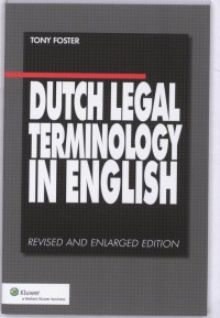 Dutch Legal Terminology in English