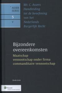 Asser 5-V Bijzondere overeenkomsten - Maatschap, vennootschap onder firma, commanditaire vennootschap