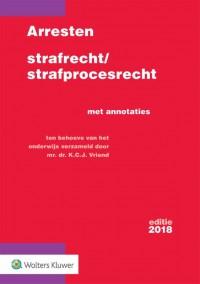 Arresten strafrecht/strafprocesrecht 2018