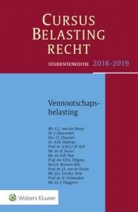 Studenteneditie Cursus Belastingrecht Vennootschapsbelasting 2018-2019