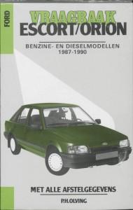 Autovraagbaken Vraagbaak Ford Escort/Orion Benzine- en dieselmodellen 1987-1990