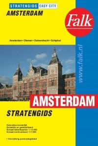 Falk stratengids Amsterdam en omgeving (Amstelveen en Schiphol) easy city met ringband inclusief tramlijnen. editie 2015-2017