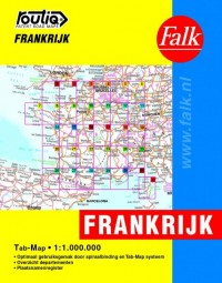 Falk autokaart Frankrijk routiq 2016-2018, 8e druk atlas met ringband.