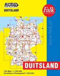Falk autokaart Duitsland routiq 2016-2018, 7e druk atlas met ringband