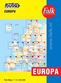 Falk autokaart Europa routiq 4e druk (looptijd t/m 2018)