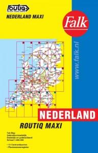 Falk autokaart Nederland routiq maxi 2017-2019, 9e druk atlas A4 met ringband