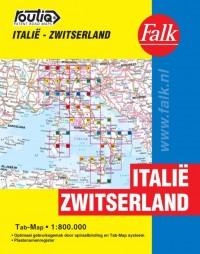Falk autokaart Italië Zwitserland routiq 1e druk recente uitgave