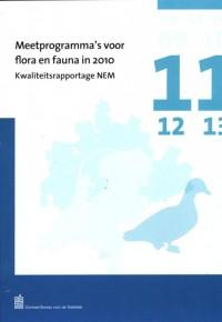 Meetprogramma's voor flora en fauna in 2010