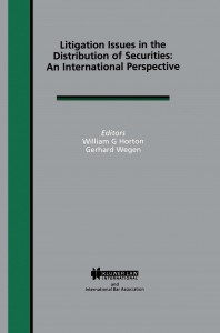 Litigation Issues in Distribution of Securities: An International Perspective