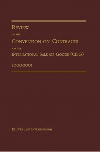 Review of the Convention on Contracts for the International Sale of Goods (CISG) 2000-2001