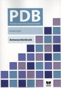 PDB Financiële Administratie en Kostprijscalculatie Berekeningen antwoordenboek