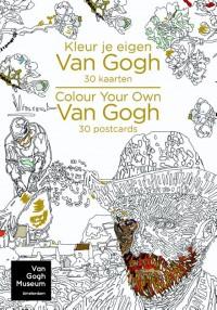 Kleur je eigen Van Gogh - 30 kaarten/Colour Your Own Van Gogh - 30 postcards