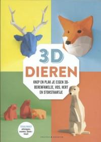 3D Dieren - Knip en plak je eigen 3D hert, vos, stokstaartje en berenfamilie