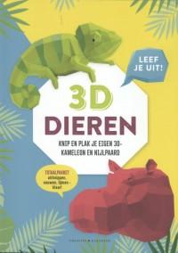 3D Dieren - Leef je uit! - Knip en plak je eigen nijlpaard en kameleon