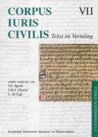 Corpus Iuris Civilis VII; Codex Justinianus 1 - 3 7 VII Corpus Iuris Civilis