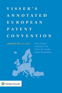 Visser's Annotated European Patent Convention 2018 Edition