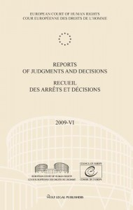 Reports of judgments and decisions / recueil des arrets et decisions Volume 2009-VI