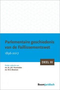 Parlementaire geschiedenis van de Faillissementswet 1896-2017