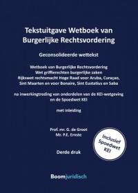 Tekstuitgave Wetboek van Burgerlijke Rechtsvordering