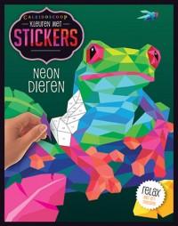 Kleuren met stickers - Neon dieren