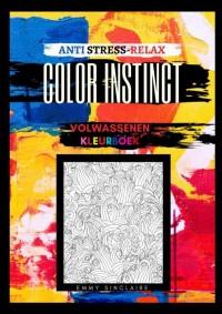 Volwassenen kleurboek Color Instinct : Anti Stress Relax bloemen