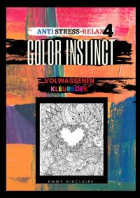 Volwassenen kleurboek Color Instinct 4 : Anti Stress Relax Harten