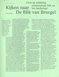 Kijken naar de Blik van Bruegel